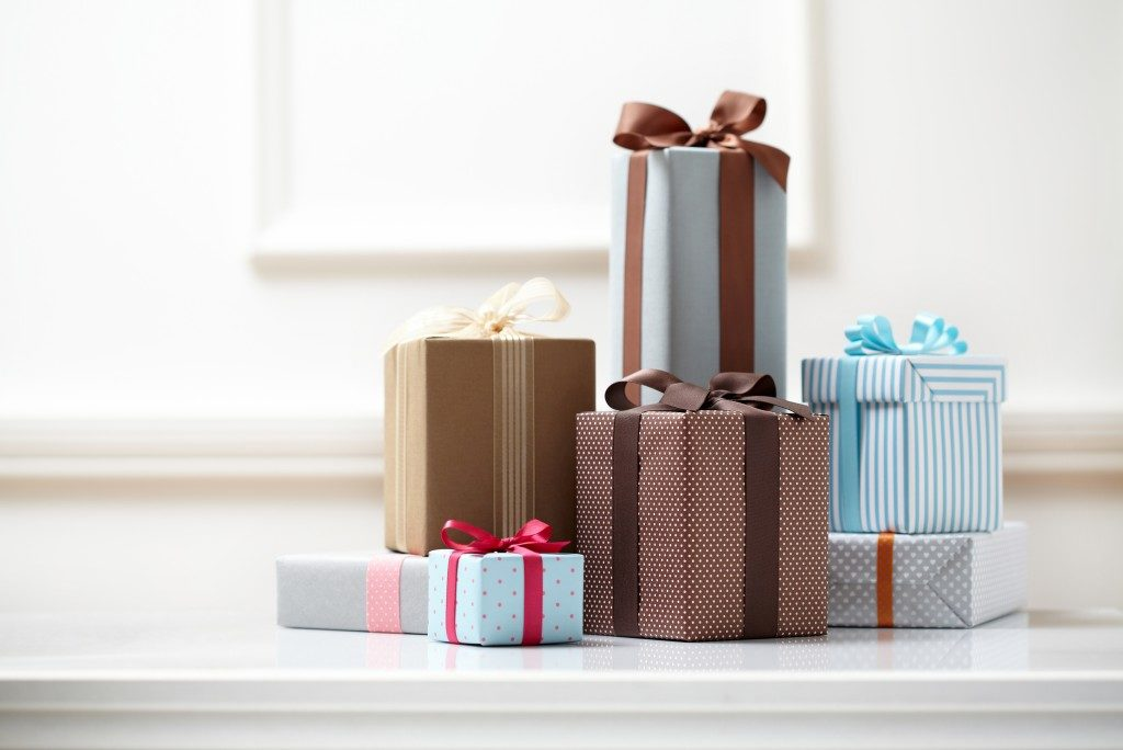 multiple gifts in different sizes