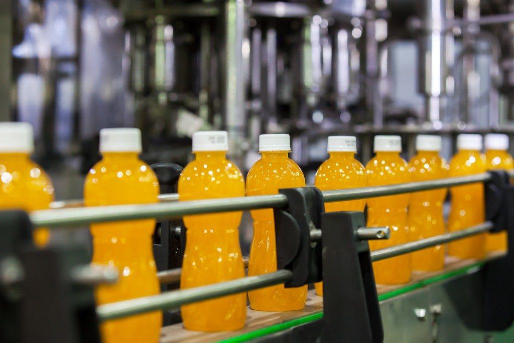 Bottled juice factory
