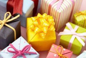 different wrapped gifts