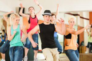 people dancing in a studio