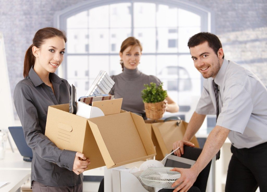 employees moving office