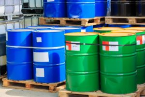 green and blue drums